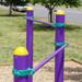 Outdoor Fitness Equipment Trail Course Park Playground Military Dual Exercise Bars