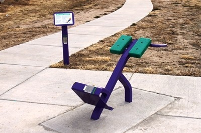 Outdoor Fitness Equipment Back Extention Exercise Station