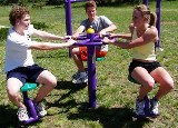 Outdoor Fitness Course Sitting Rotator