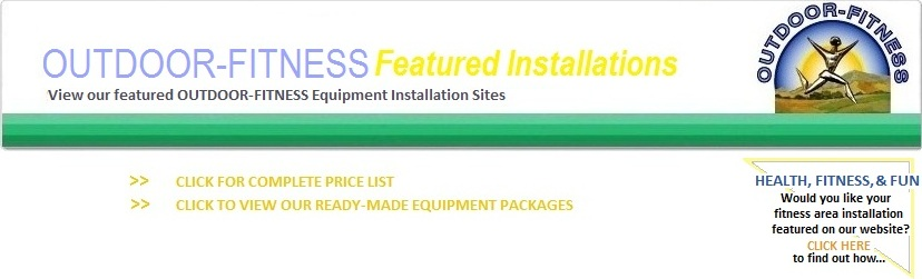 Outdoor Fitness Equipment Installation Sites