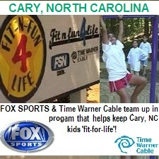 OUTDOOR FITNESS EQUIPMENT GYM PARK TRAIL TIMES FOX SPORTS NEWS TIME WARNER CABLE CARY NORTH CAROLINA HEALTH FITNESS 4 FOR LIFE