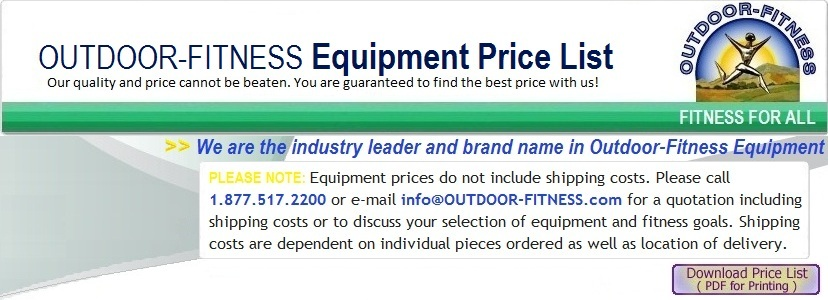 Outdoor Fitness Equipment Price List
