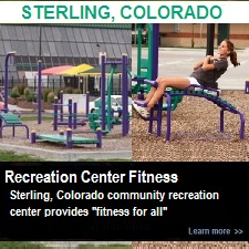 Outdoor Fitness Equipment Sterling Colorado Community Recreation Rec Center Exercise Gym Park Area Trail Sit Up