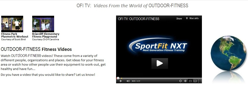 Outdoor Fitness Equipment Television