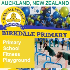 Outdoor Fitness Equipment primary elementary aukland newzealand education communty athletic complex park gym Facility youth childrens playground recess health kids childhood over weight  obesity