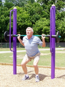 Outdoor Fitness Equipment Weight Lift