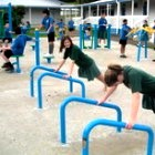 Outdoor Fitness Equipment Push Up Stands