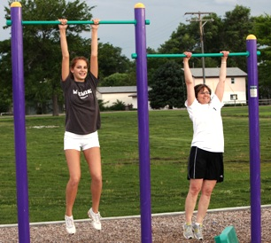 Pull Up Bars At Outdoor Fitness Equipment
