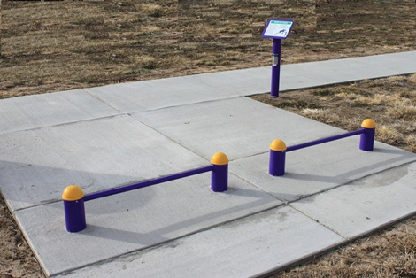 Push Up Bars At Outdoor Fitness Equipment