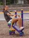 Outdoor Fitness Equipment Exercise Park Trail Course rOWER