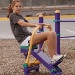Outdoor Fitness Equipment Trail Course Park Playground Military Self Weighted Rower