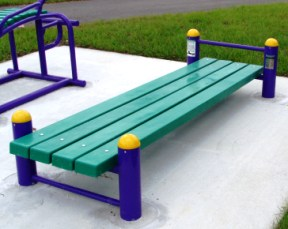 Marvelous Sit Up Bench At Outdoor Fitness Bralicious Painted Fabric Chair Ideas Braliciousco