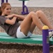 Outdoor Fitness Equipment Park Trail  Sit Up Bench