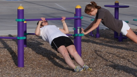 Outdoor Fitness Equipment Strength and Stretch Bars