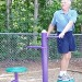 Outdoor Fitness Equipment Trail Course Park Playground Military Two Sided Rotator