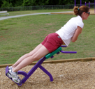 Outdoor Fitness Equipment Exercise Park Trail Course Back Extension