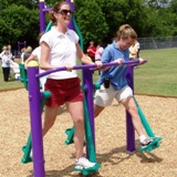 Outdoor Fitness Exercise Equipment Park Trail Course Burlington North Carolina NC
