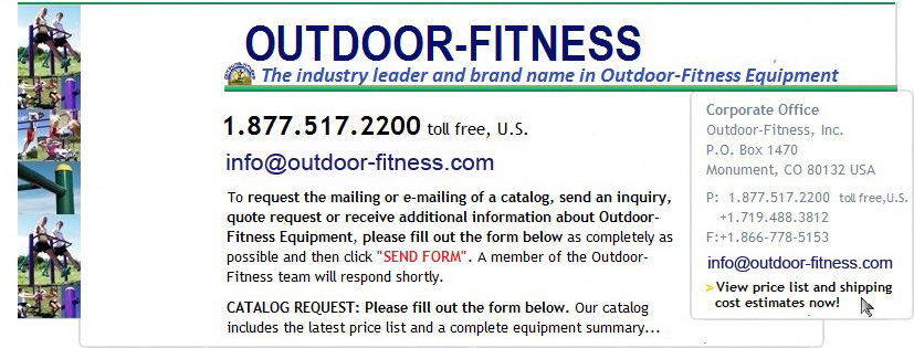 Outdoor Fitness Equipment, contact us!
