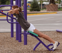 Back Extension at Outdoor Fitness