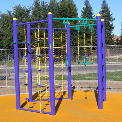 Outdoor Fitness Equipment Integrated