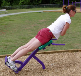 Back Extension Fitness Trail