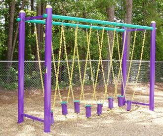 Floating Balance System At Outdoor Fitness Equipment