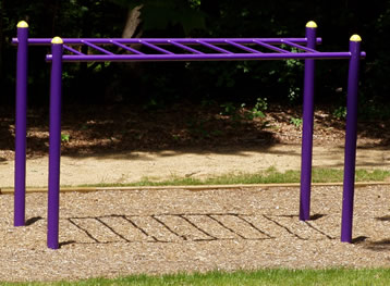Horizontal Ladder At Outdoor Fitness Equipment