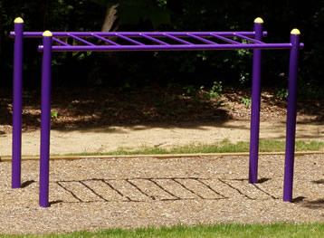 Horizontal Ladder At Outdoor Fitness Equipment - Build monkey bars ladder