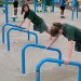 Outdoor Fitness Equipment Trail Course Park Playground Military Push Up Stand